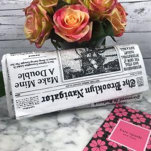 Kate Spade Glitzy Ritzy Newspaper Clutch